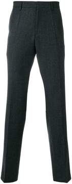 HUGO BOSS textured straight-leg trousers