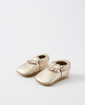 Hanna Andersson Leather Fringe Moccasins By Hanna