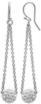 Brilliance+ Brilliance Silver Plated Ball Drop Earrings with Swarovski Crystals