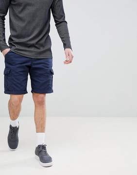 Esprit Relaxed Fit Cargo Shorts In Navy