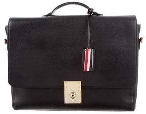 Thom Browne Grained Leather Messenger Bag