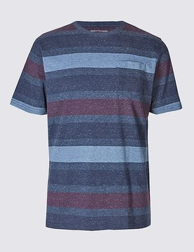 Marks and Spencer Big & Tall Pure Cotton Crew Neck T-Shirt