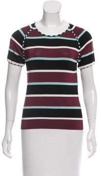 Cacharel Striped Knit Top