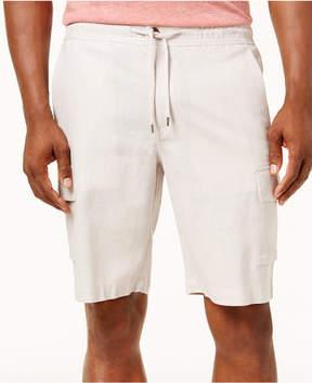 Cubavera Men's Linen Drawstring Cargo Shorts