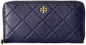 Tory Burch Georgia Zip Continental Wallet Bill-fold Wallet - BLACK - STYLE