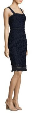 Trina Turk Fringed Lace Sheath Dress