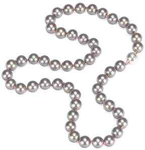Aspinal of London Grey Sea Shell Pearl Necklace