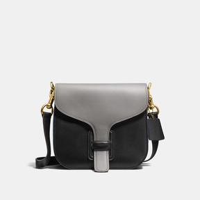 COACH Coach Courier Bag In Colorblock - BRASS/HEATHER GREY MULTI - STYLE