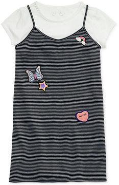 Jessica Simpson Patch-Embroidery Striped Dress & T-Shirt Set, Big Girls (7-16)