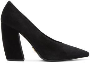 Prada Black Suede Pointed Heels