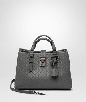 Bottega Veneta Light Gray Intrecciato Calf Small Roma Bag