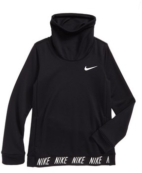 Nike Girl's Dry Core Studio Long Sleeve Pullover