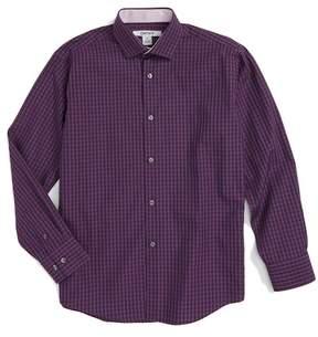 DKNY Plaid Dress Shirt (Big Boys)