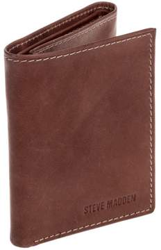 Steve Madden Brown Leather Antique Trifold Wallet