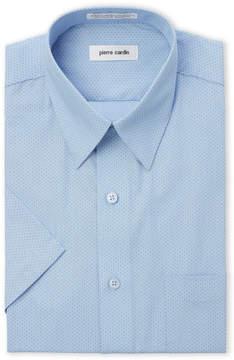Pierre Cardin Mini Polka Dot Regular Fit Short Sleeve Shirt