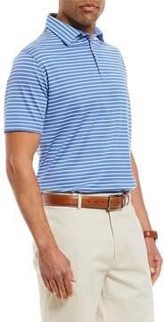 Daniel Cremieux Signature Stripe Short-Sleeve Performance Polo Shirt
