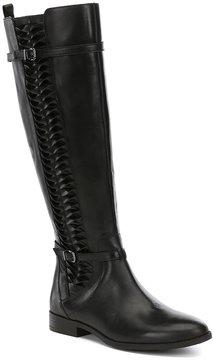 Gianni Bini Kaine Side Twist Detail Block Heel Wide Calf Riding Boots