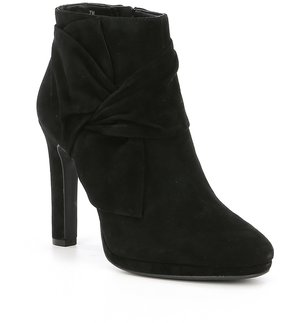 Gianni Bini Gladia Suede Side Knot Bow Booties