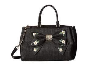 Betsey Johnson Daisy'd Confused Bow Satchel Satchel Handbags