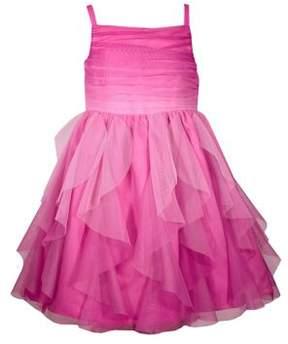 Iris & Ivy Little Girl's Ombre Mesh Ruffle Dress