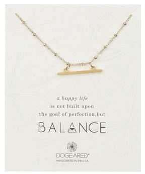 Dogeared 14K Yellow Gold Vermeil ' Balance' Beaded Horizontal Bar Pendant Necklace