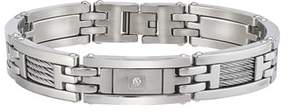 Armani Exchange Jewelry Mens Diamond Bracelet In Stainless Steel (0.10cts, H-i I3).