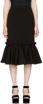 Edit Black Ruffled Hem Skirt