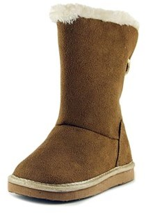 Osh Kosh Ivory Toddler Round Toe Synthetic Brown Winter Boot.