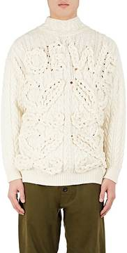 Loewe Men's Chunky Cable-Knit Wool Sweater
