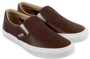 Vans Classic Slip On Shaved Chocolate Porcini Mens Slip On Sneakers