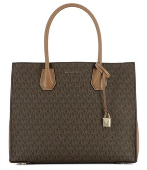 Michael Kors Women's Brown Leather Tote. - BROWN - STYLE