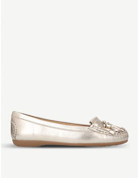 Carvela Comfort Chloe metallic leather loafers