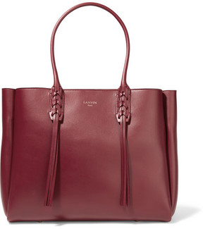 Lanvin The Shopper Small Leather Tote - Claret