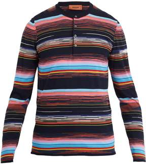 Missoni Long-sleeved cotton-knit polo shirt