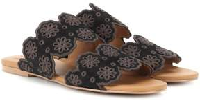 See by Chloe Valentina embroidered suede sandals