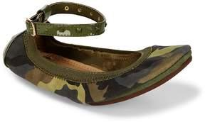 Yosi Samra Women's Leather Ankle Strap Flats