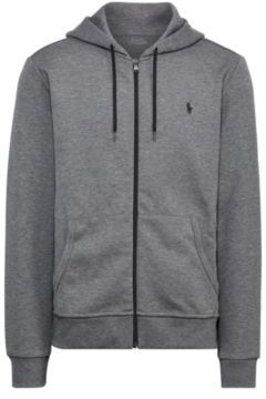Ralph Lauren Double-Knit Full-Zip Hoodie Foster Grey Heather Xs