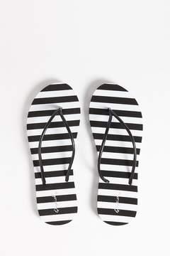 Forever 21 Qupid Striped Flip Flops