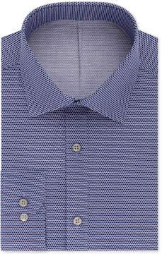 DKNY Men's Slim-Fit Purple Print Dress Shirt