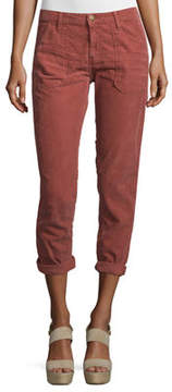 BA&SH Sally Cropped Washed Twill Jeans