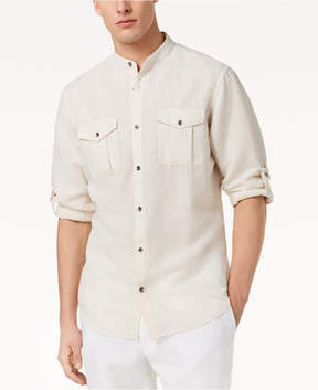 INC International Concepts I.n.c. Men's Band Collar Fuji Shirt, Created for Macy's