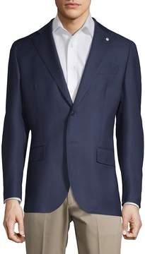 Lubiam Men's Mini Check Wool Sportcoat