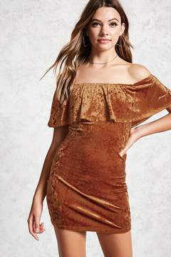 Forever 21 Crushed Velvet Flounce Dress