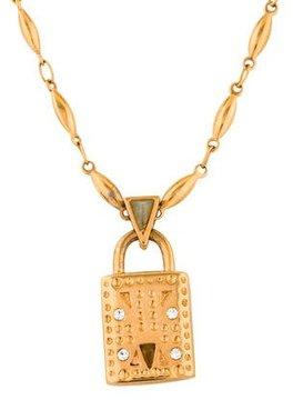Eddie Borgo Crystal Padlock Pendant Necklace