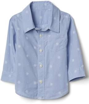 Gap Snowflake poplin long sleeve shirt