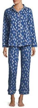 BedHead Ikat Dot Long-Sleeve Classic Pajama Set, Plus Size