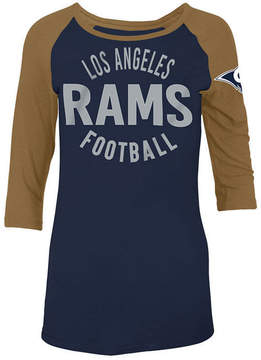 5th & Ocean Women's Los Angeles Rams Rayon Raglan T-Shirt