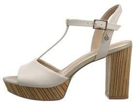 Nanette Lepore Womens Venus Leather Open Toe Casual T-strap Sandals.