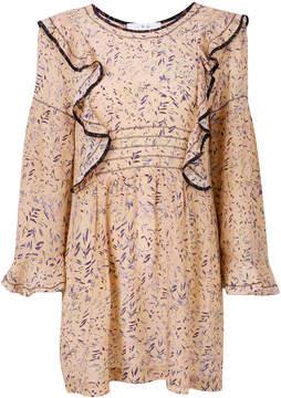 IRO printed ruffle detail dress