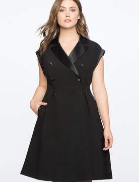 ELOQUII Double Breasted Tuxedo Dress